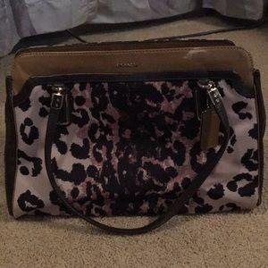 Cheetah print coach purse